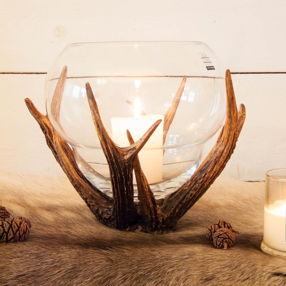 glas mit hirschgeweih ich liebe mein zuhause landhausstil zum wohlf hlen und geniessen. Black Bedroom Furniture Sets. Home Design Ideas