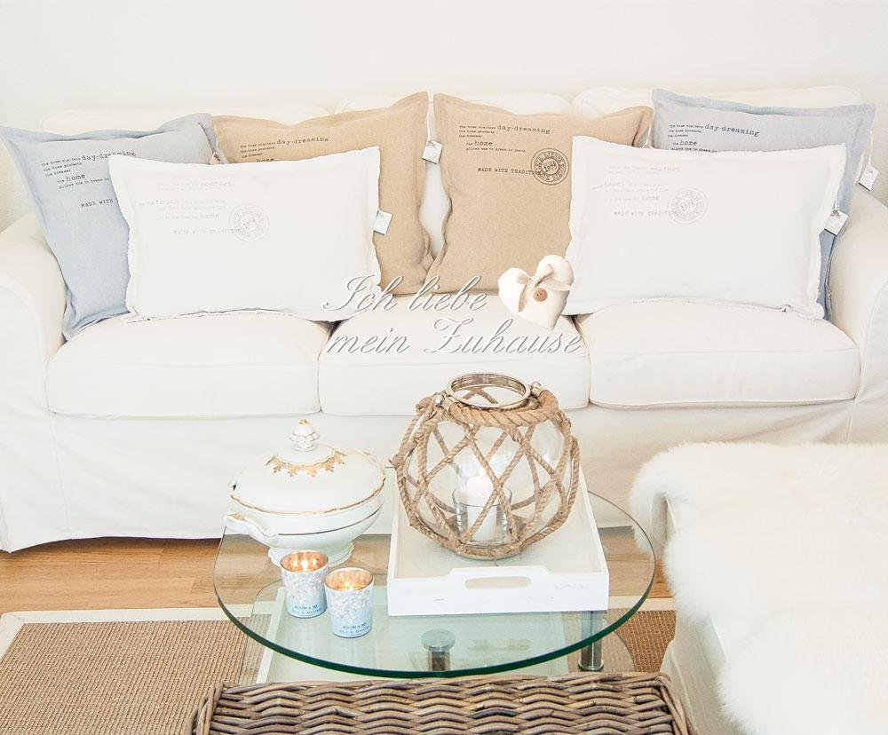 kissen ich liebe mein zuhause landhausstil zum. Black Bedroom Furniture Sets. Home Design Ideas