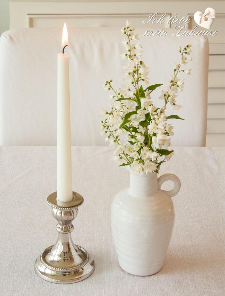 wie dekoriere ich den tisch mit vasen und kerzen teil 1 ich liebe mein zuhause landhausstil. Black Bedroom Furniture Sets. Home Design Ideas