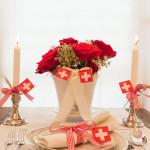 Festliche 1.August Tisch-Dekoration