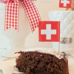 Luftiger Schokoladekuchen zum Nationalfeiertag am 1. August