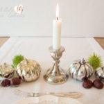 Herbstliche Tischdekoration zum Wohlfühlen und Geniessen