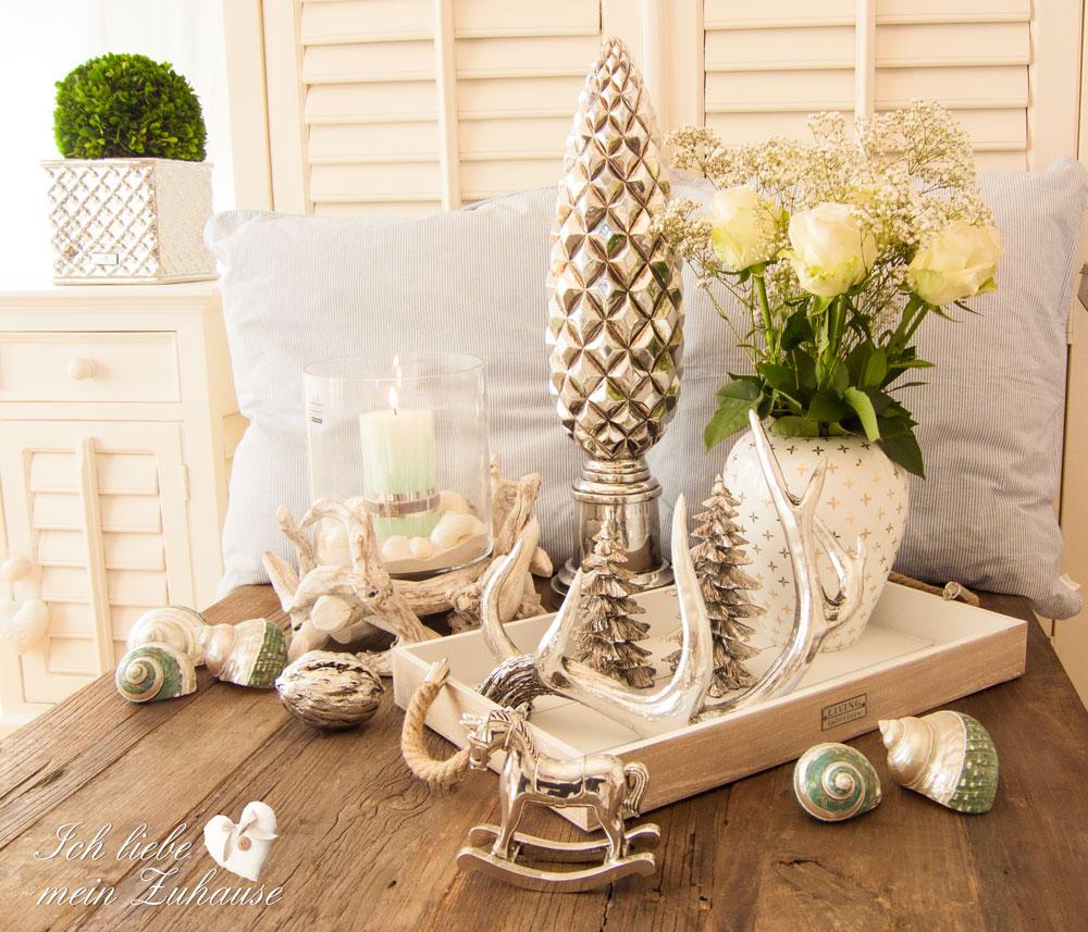 Sommerliche weihnachts dekoration im seasidestil ich for Dekoration im landhausstil