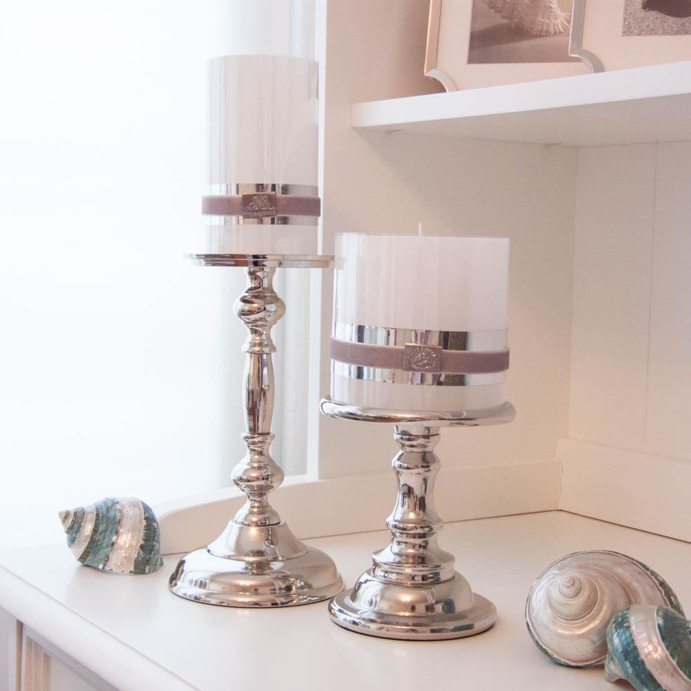 lene bjerre kerzenst nder silber aus der merle collection small ich liebe mein zuhause. Black Bedroom Furniture Sets. Home Design Ideas