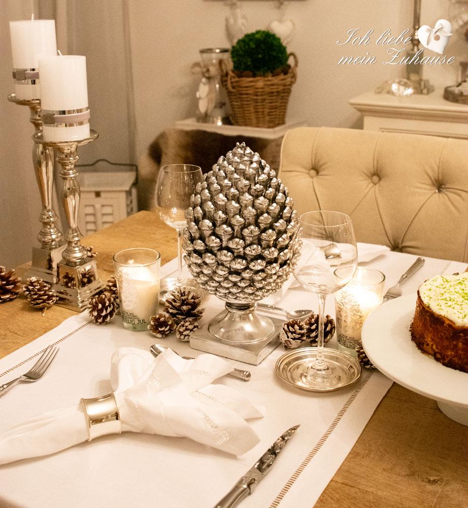 Schnelle Winter Tischdekoration Pikanter Kuchen Ich Liebe Mein